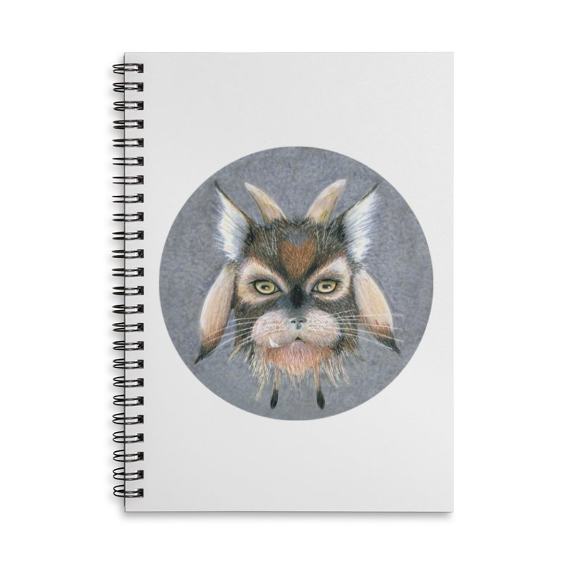 Catpricorn Accessories Lined Spiral Notebook by Bad Kerning by castinbronze