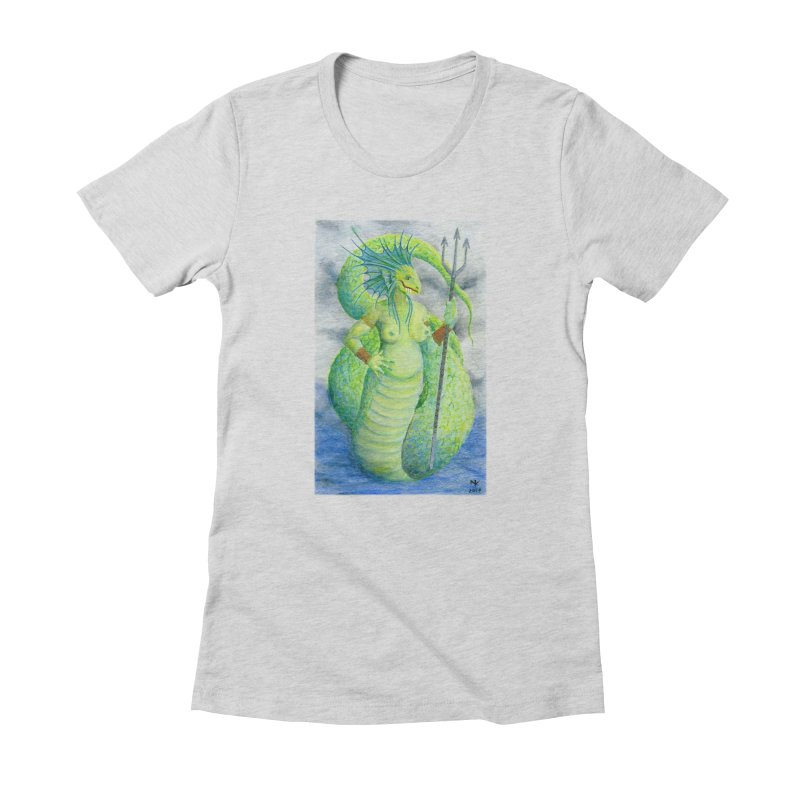 Waccane I Women's Fitted T-Shirt by Bad Kerning by castinbronze