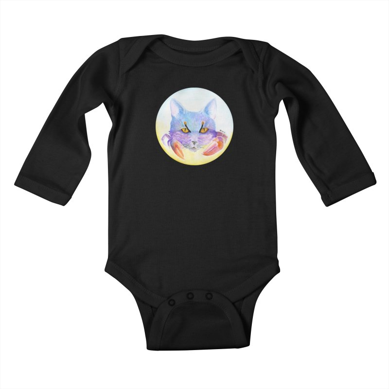 Pouncer Kids Baby Longsleeve Bodysuit by Bad Kerning by castinbronze