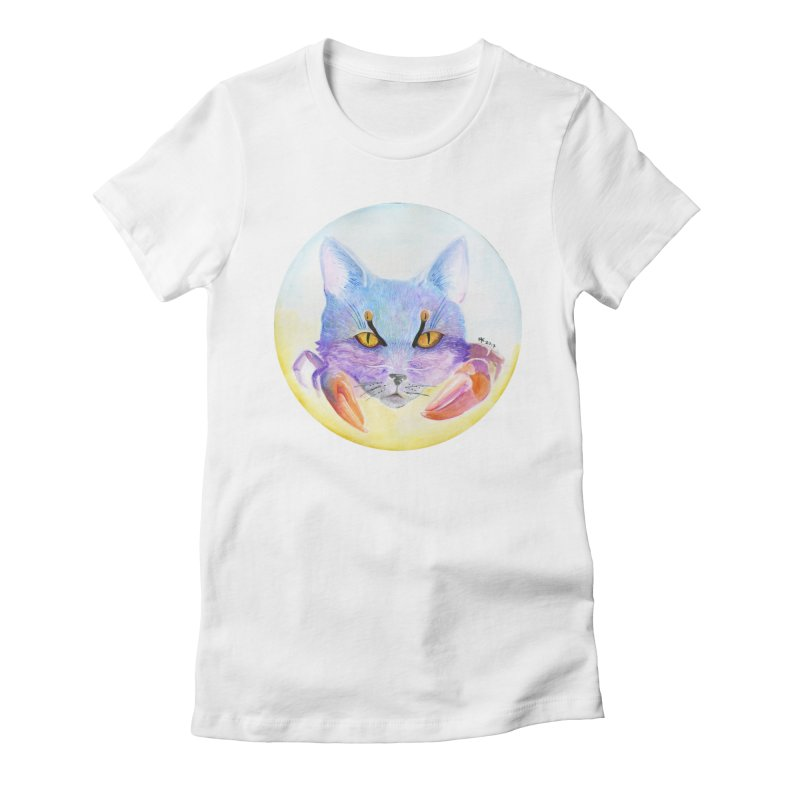 Pouncer Women's Fitted T-Shirt by Bad Kerning by castinbronze