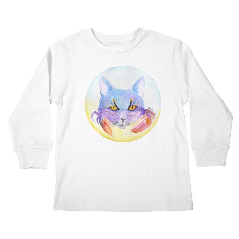 Pouncer Kids Longsleeve T-Shirt by Bad Kerning by castinbronze