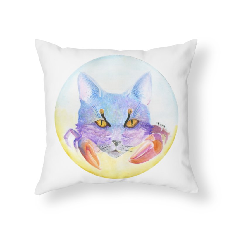 Pouncer Home Throw Pillow by castinbronze design