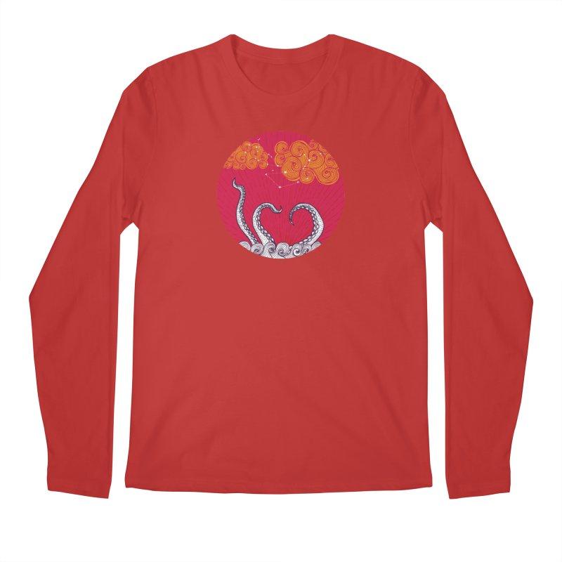 Kraken and Clouds Men's Longsleeve T-Shirt by catalinaillustration's Shop