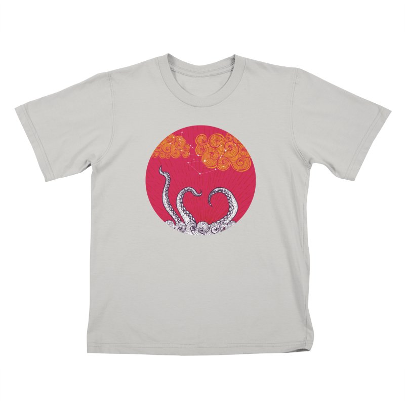 Kraken and Clouds Kids T-Shirt by catalinaillustration's Shop