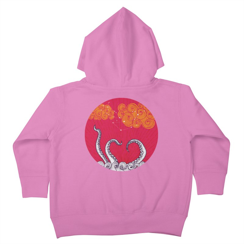 Kraken and Clouds Kids Toddler Zip-Up Hoody by catalinaillustration's Shop