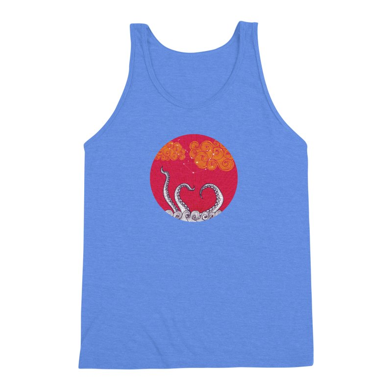 Kraken and Clouds Men's Triblend Tank by catalinaillustration's Shop