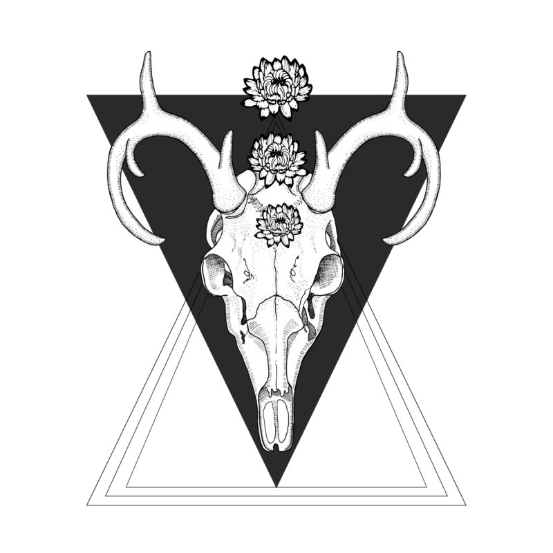 Deer Skull and Desert Flowers by catalinaillustration's Shop