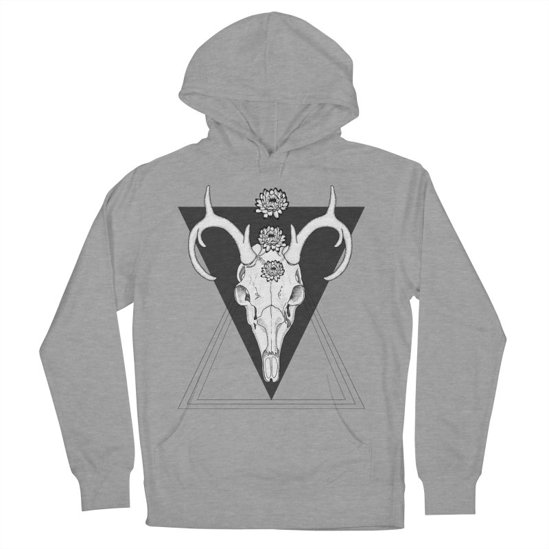 Deer Skull and Desert Flowers Men's Pullover Hoody by catalinaillustration's Shop