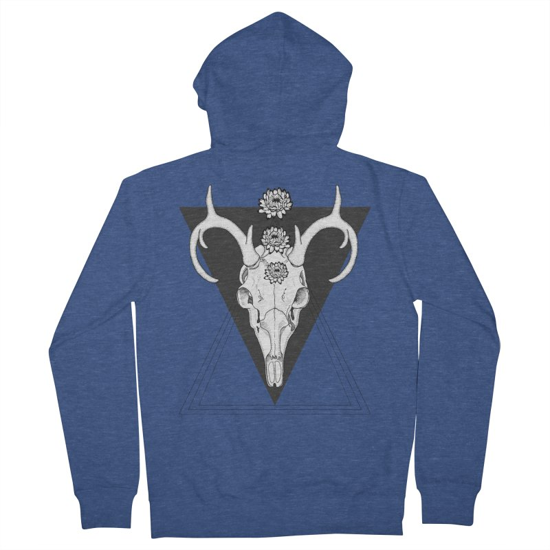 Deer Skull and Desert Flowers Women's Zip-Up Hoody by catalinaillustration's Shop