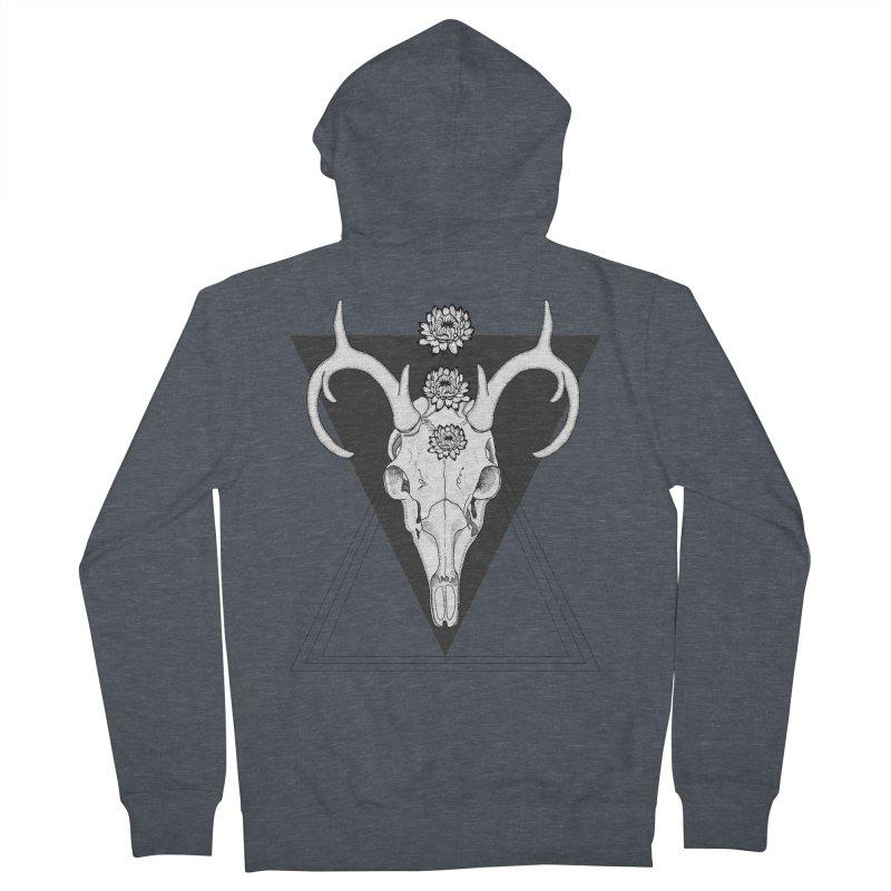 Deer Skull and Desert Flowers Men's Zip-Up Hoody by catalinaillustration's Shop