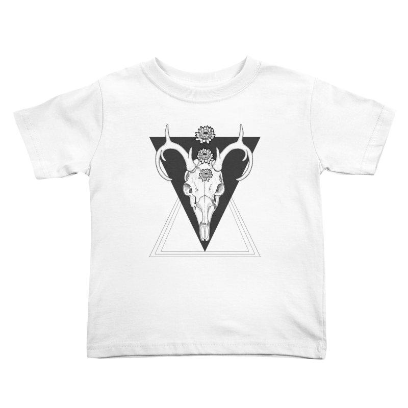Deer Skull and Desert Flowers Kids Toddler T-Shirt by catalinaillustration's Shop