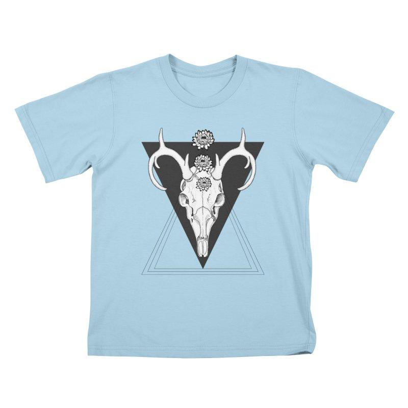 Deer Skull and Desert Flowers Kids T-shirt by catalinaillustration's Shop