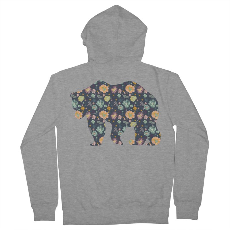 Floral Bear Women's Zip-Up Hoody by Catalina Villegas Illustration