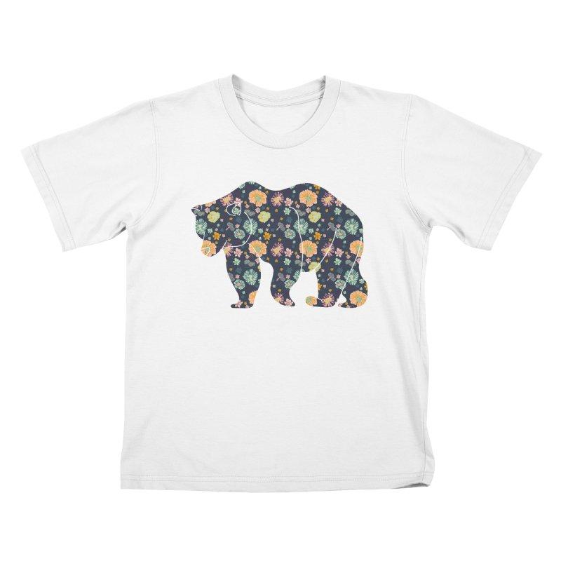 Floral Bear Kids T-Shirt by Catalina Villegas Illustration