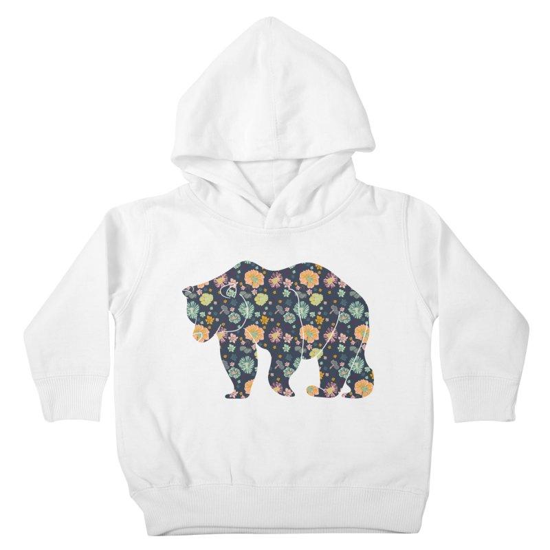 Floral Bear Kids Toddler Pullover Hoody by Catalina Villegas Illustration