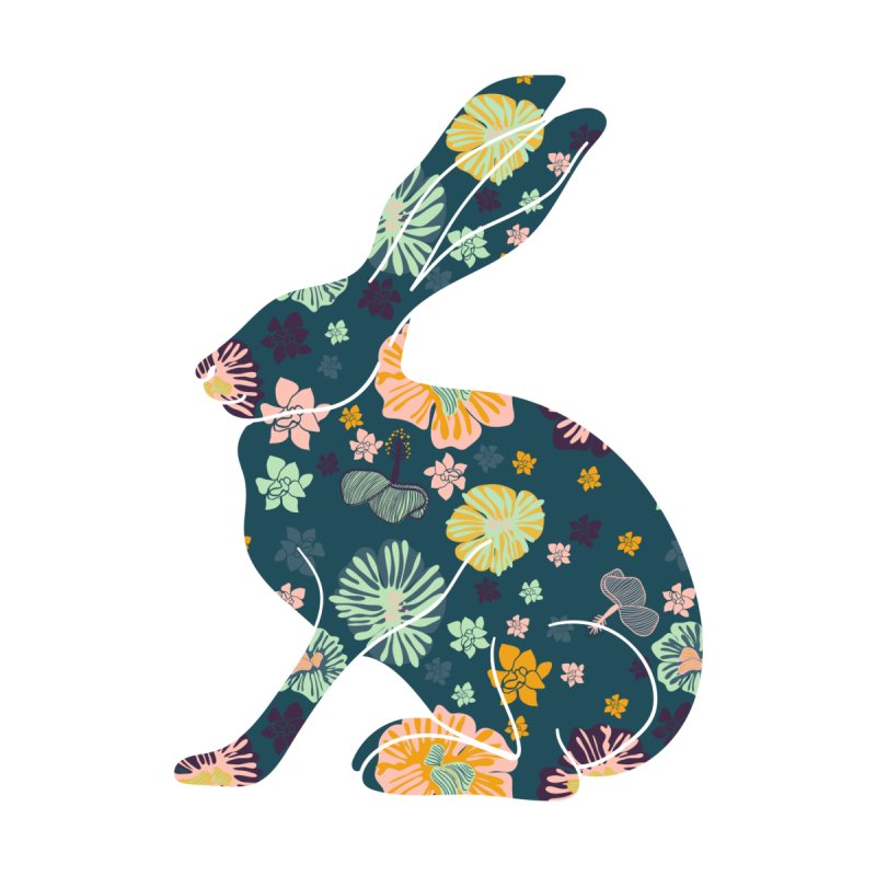 Floral Hare by Catalina Villegas Illustration