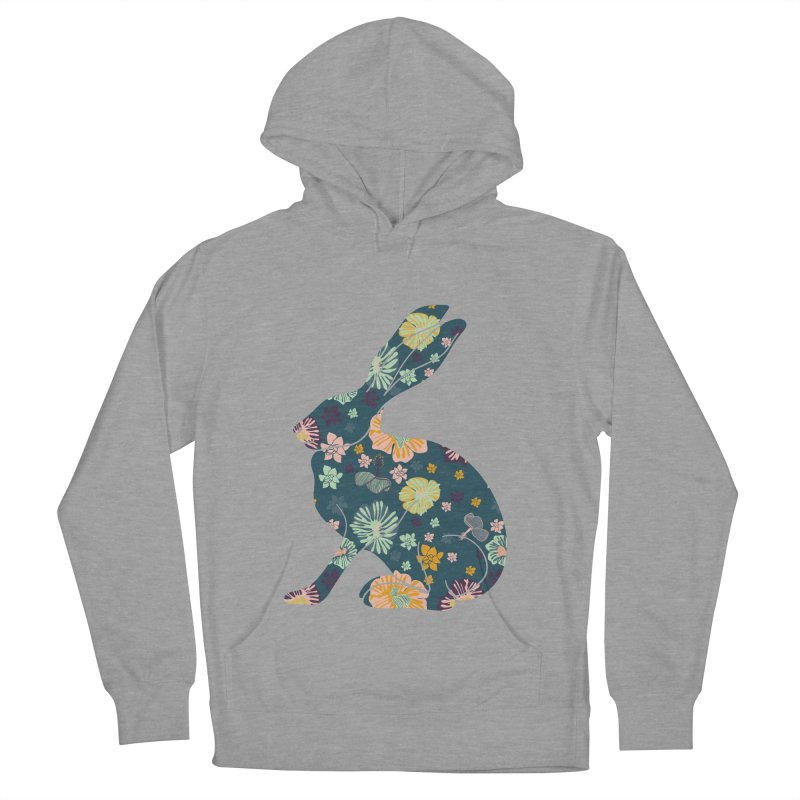Floral Hare Women's Pullover Hoody by Catalina Villegas Illustration