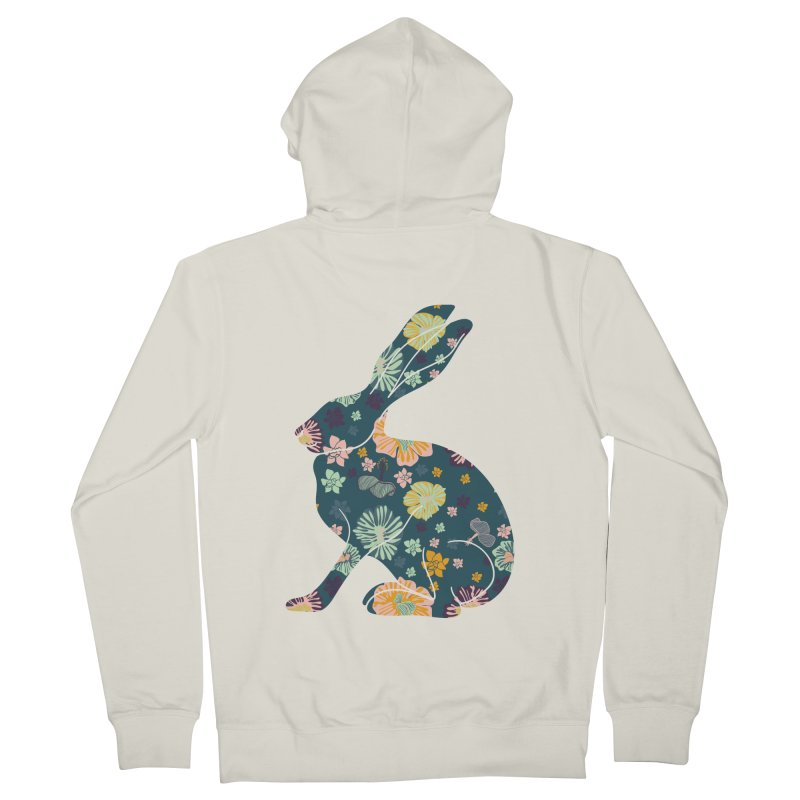 Floral Hare Women's Zip-Up Hoody by Catalina Villegas Illustration