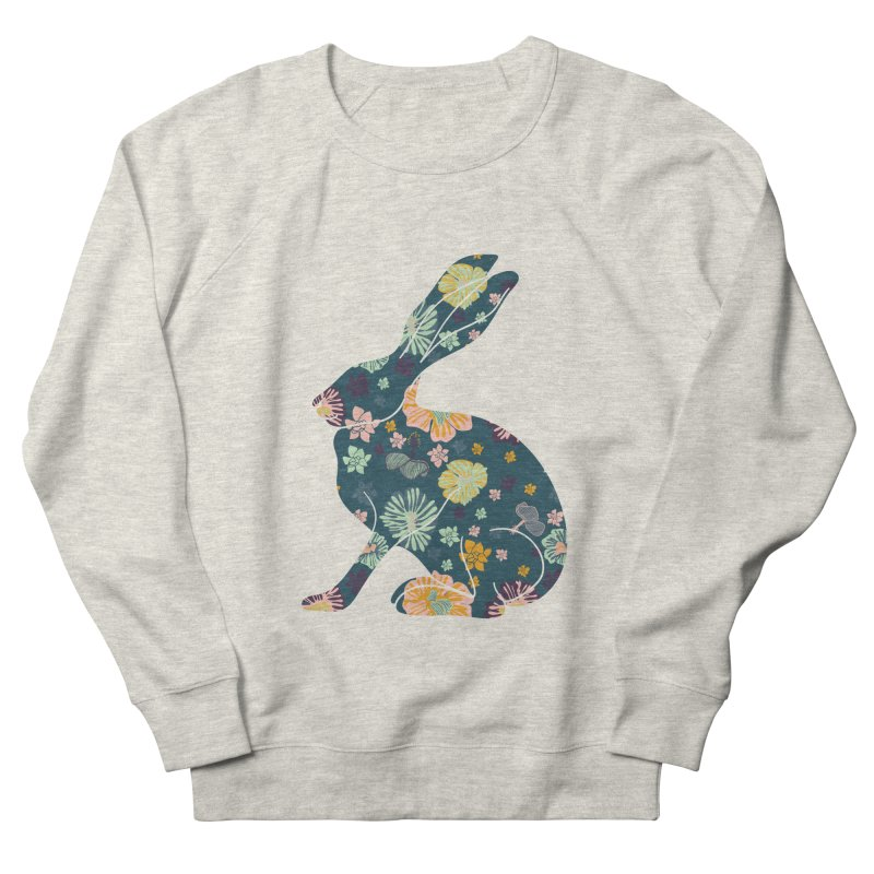 Floral Hare Women's Sweatshirt by Catalina Villegas Illustration