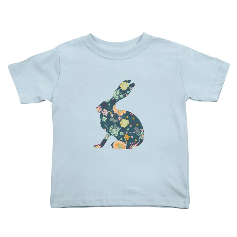 Floral Hare Kids Toddler T-Shirt by Catalina Villegas Illustration