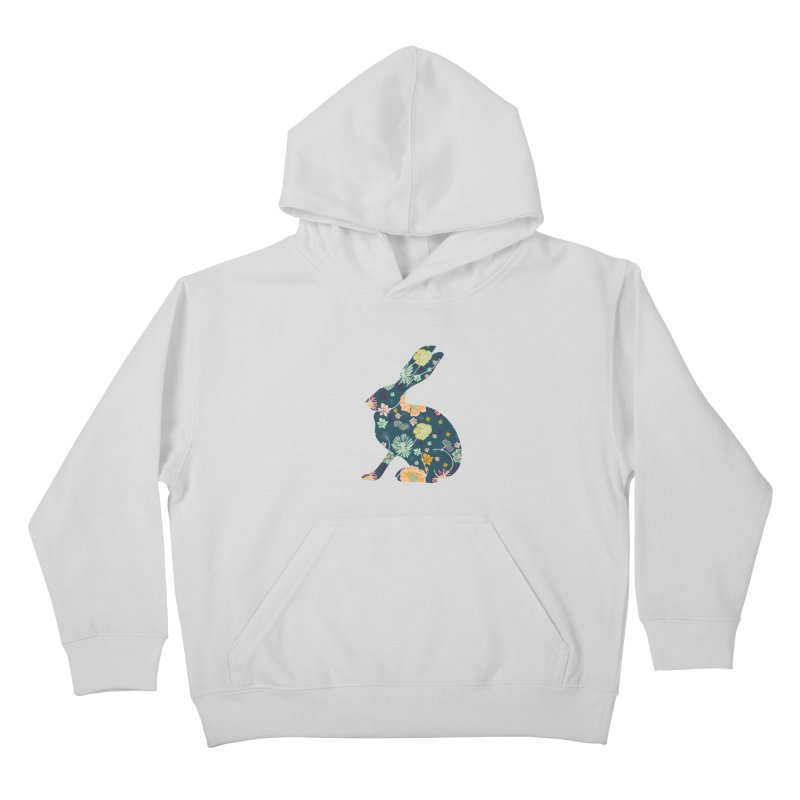Floral Hare Kids Pullover Hoody by Catalina Villegas Illustration