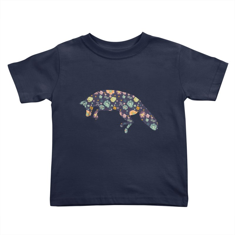 Floral Fox Kids Toddler T-Shirt by Catalina Villegas Illustration