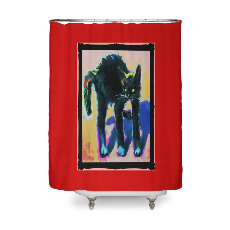 Humped Up Home Shower Curtain by CatArt's Shop