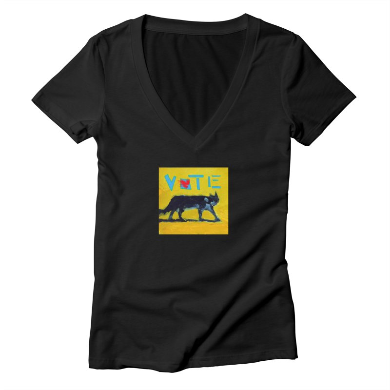 Vote with Heart Women's V-Neck by CatArt's Shop
