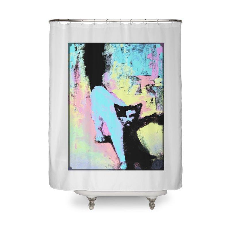 Strider Home Shower Curtain by CatArt's Shop