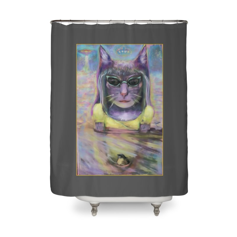 Climate Change Home Shower Curtain by CatArt's Shop