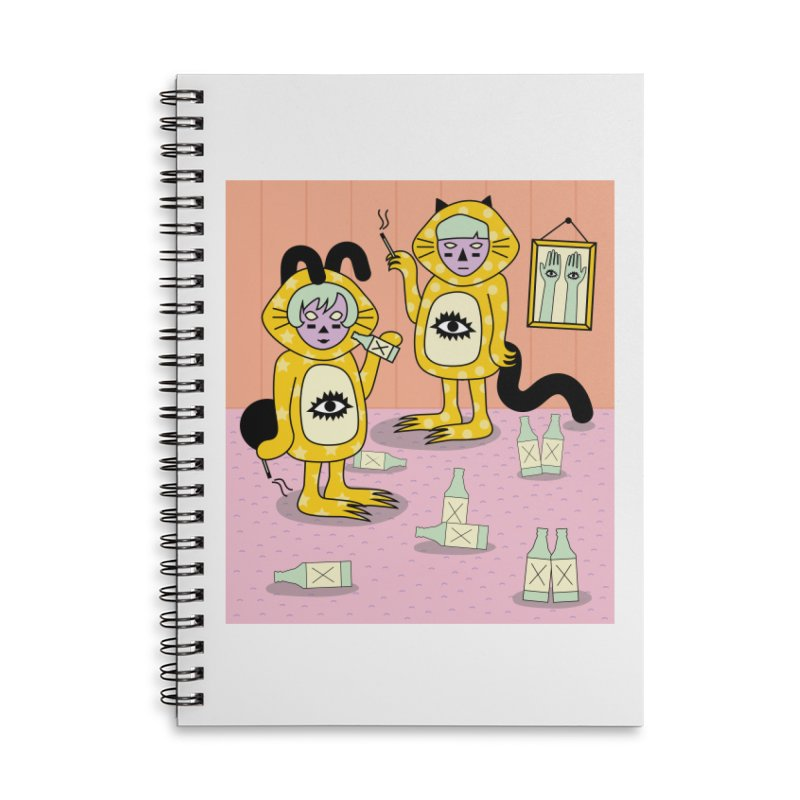 Little Savages Accessories Lined Spiral Notebook by Cat Barrera Art