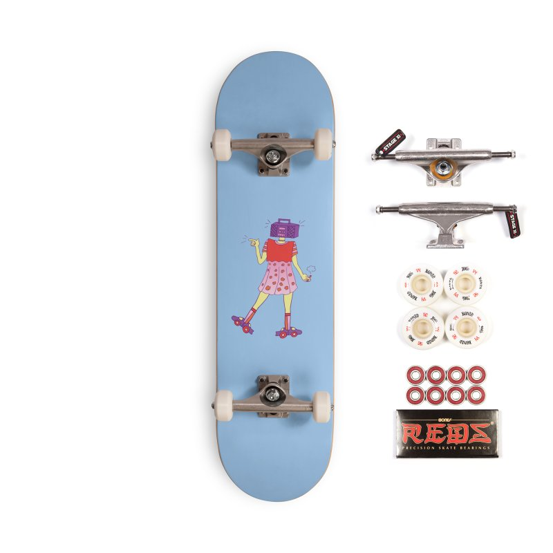 Stereo Girl Accessories Complete - Pro Skateboard by Cat Barrera Art