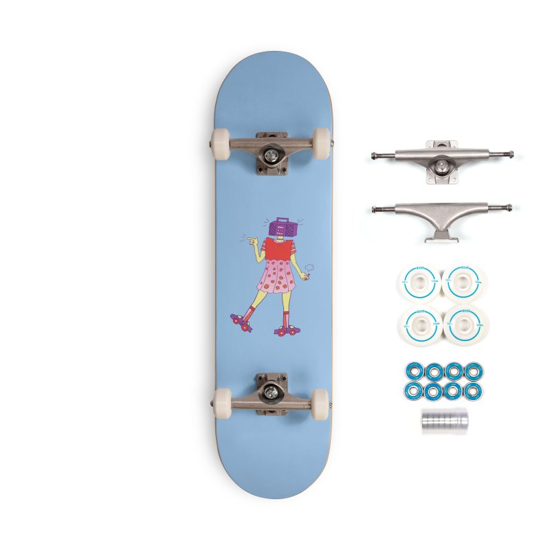 Stereo Girl Accessories Complete - Basic Skateboard by Cat Barrera Art
