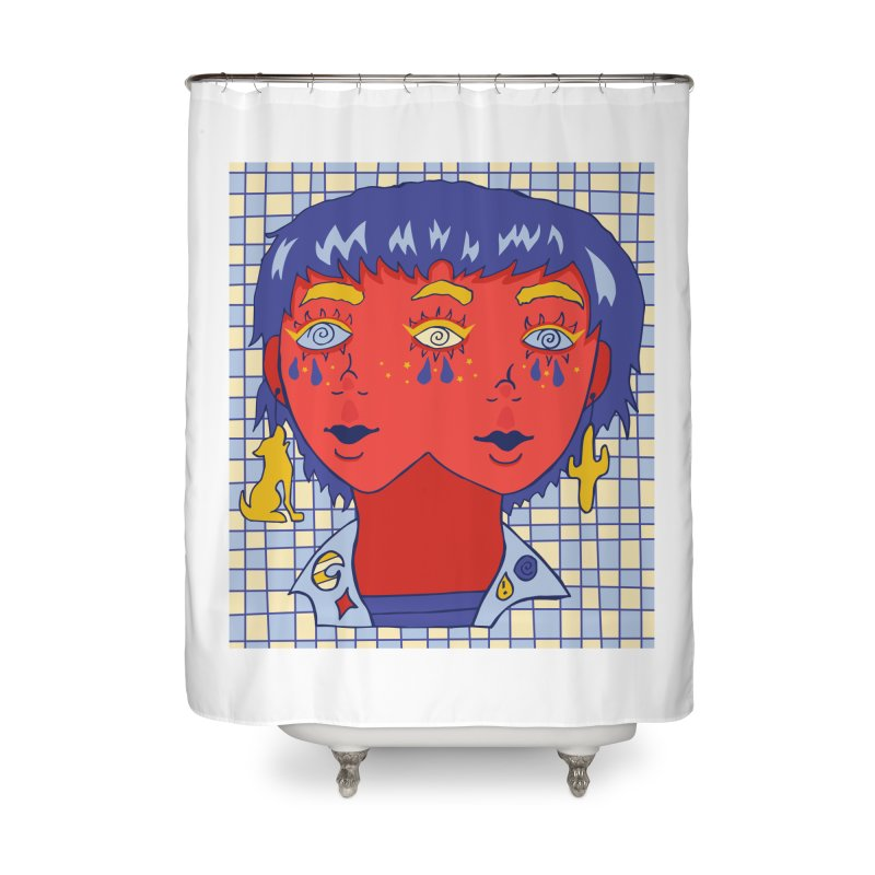 Dizzy Daisy Home Shower Curtain by Cat Barrera Art