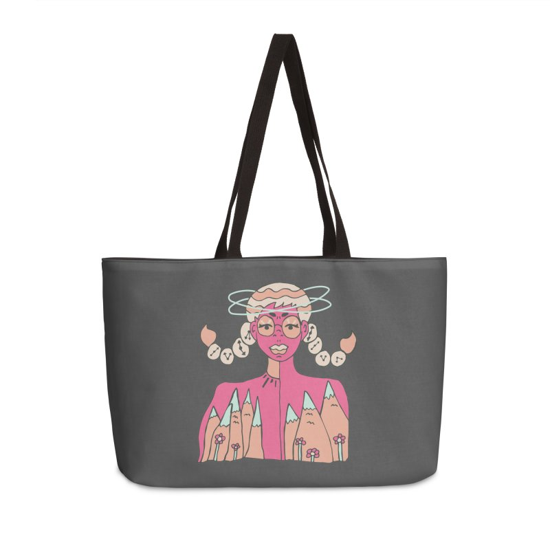 Mountain of Time Accessories Weekender Bag Bag by Cat Barrera Art