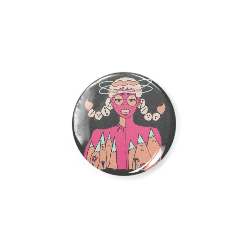 Mountain of Time Accessories Button by Cat Barrera Art