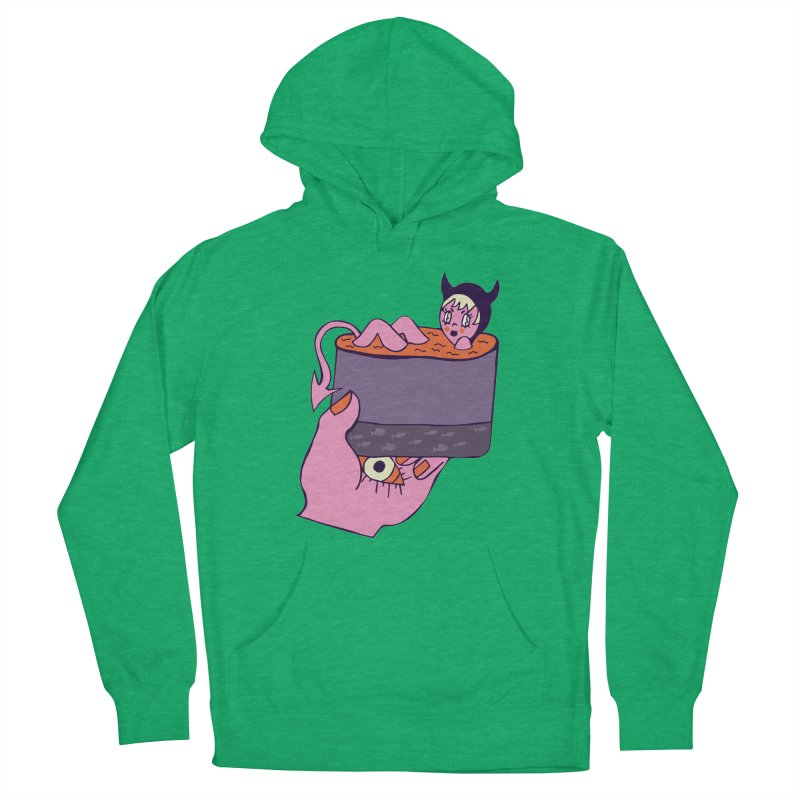Sea Demon Women's French Terry Pullover Hoody by Cat Barrera Art