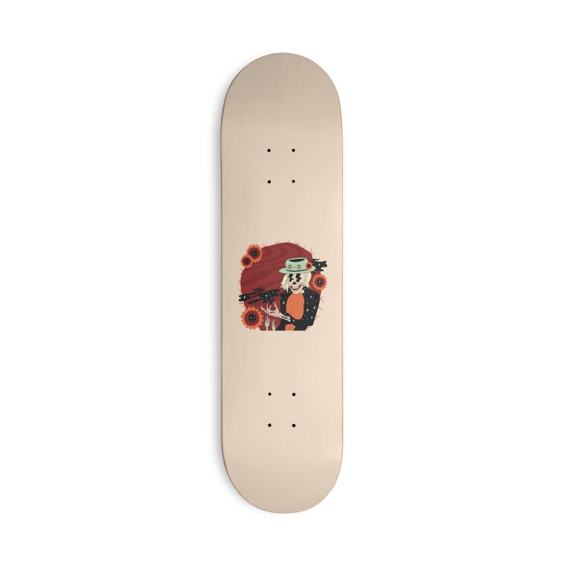 Cactus Carl Accessories Deck Only Skateboard by Cat Barrera Art