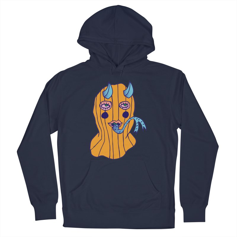 Masked Women's French Terry Pullover Hoody by Cat Barrera Art