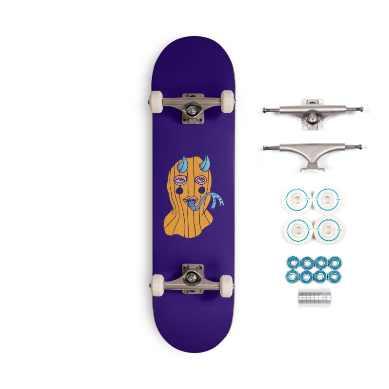 Masked Accessories Complete - Basic Skateboard by Cat Barrera Art