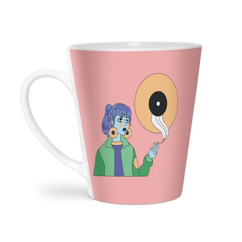 Vinyl Girl Accessories Latte Mug by Cat Barrera Art