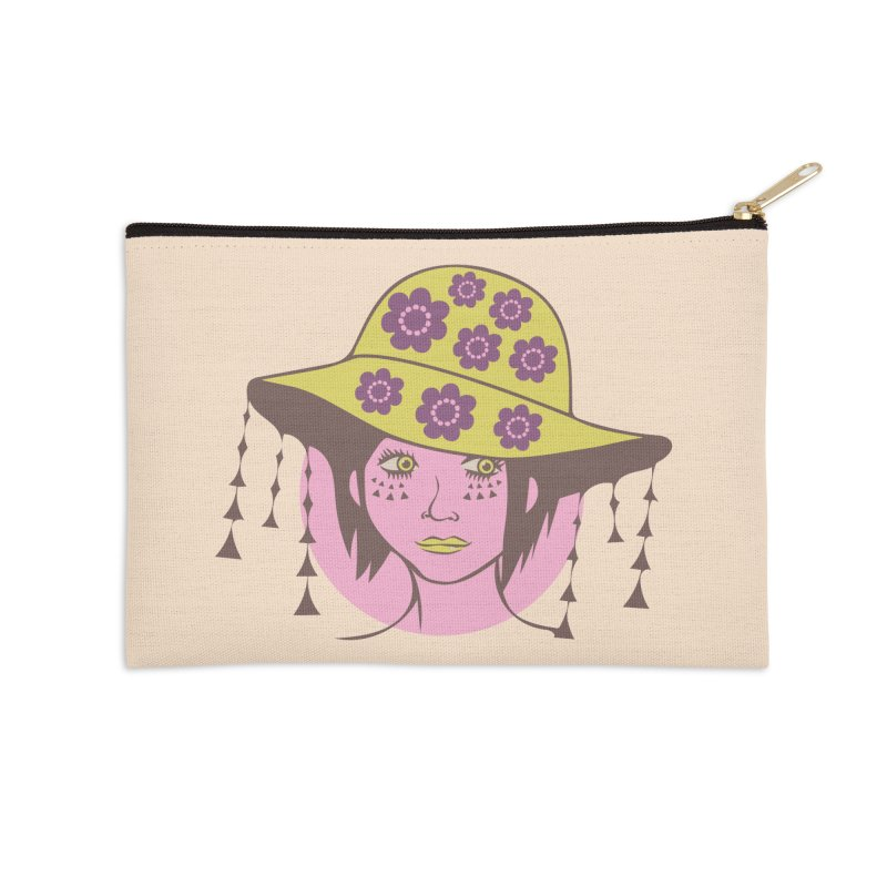 Sunny Accessories Zip Pouch by Cat Barrera Art