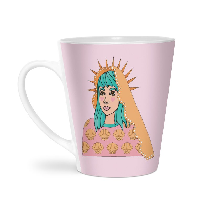Patron Saint of Sadness Accessories Latte Mug by Cat Barrera Art