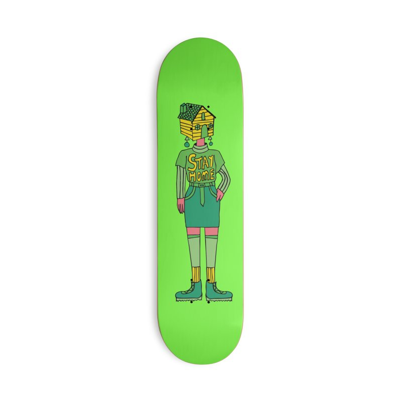 Stay Home Accessories Deck Only Skateboard by Cat Barrera Art