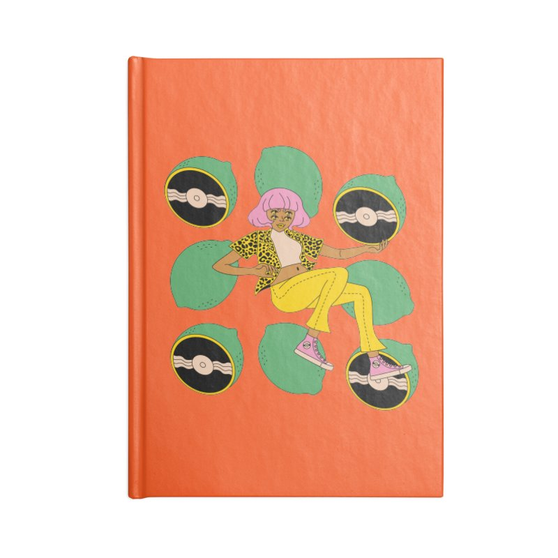 Lime Vinyl Accessories Notebook by Cat Barrera Art