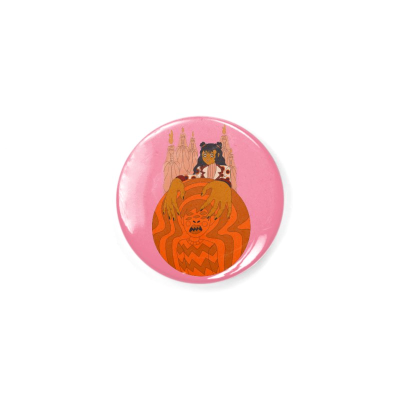 I put a spell on you Accessories Button by Cat Barrera Art