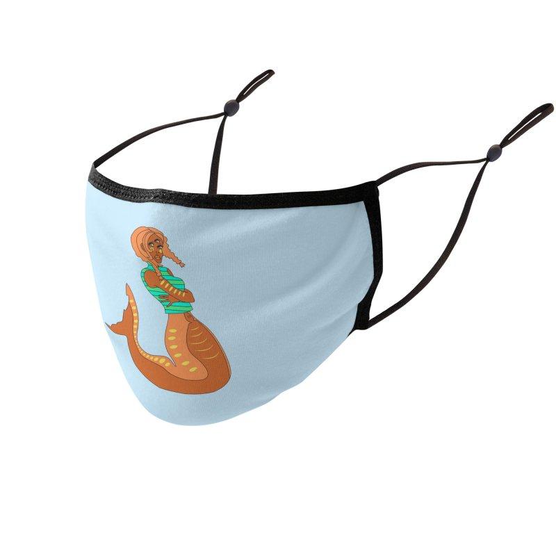 La Sirena Accessories Face Mask by Cat Barrera Art