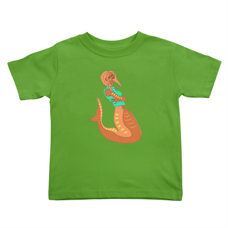 La Sirena Kids Toddler T-Shirt by Cat Barrera Art