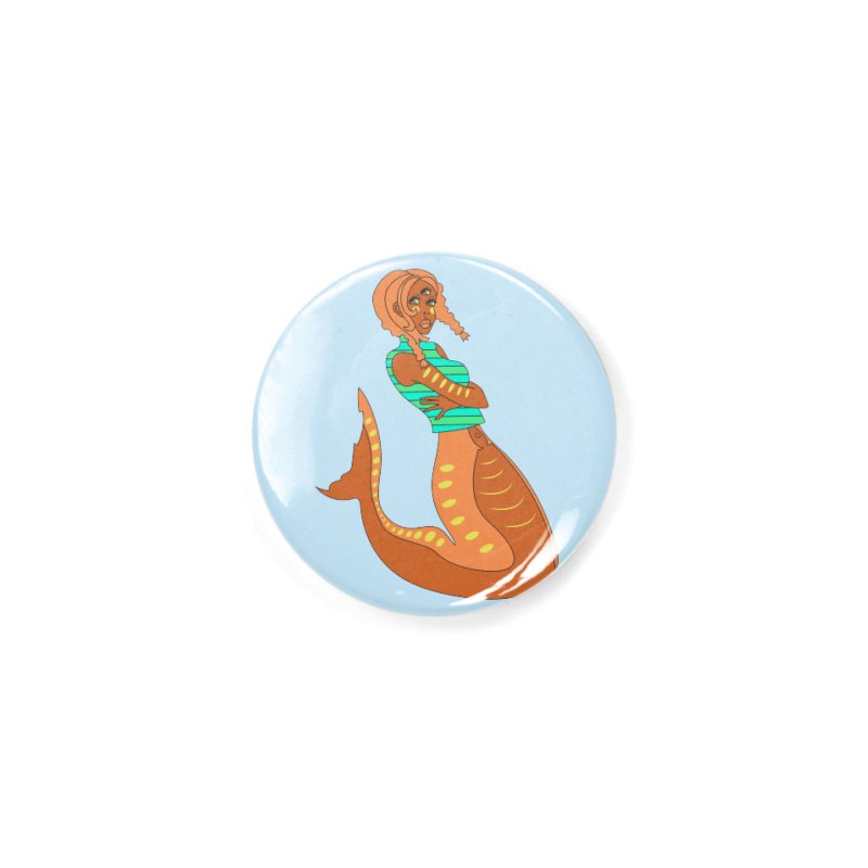 La Sirena Accessories Button by Cat Barrera Art