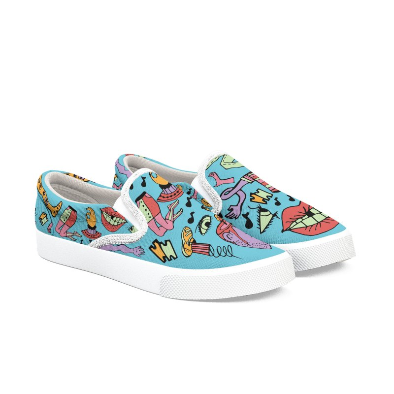 Manic Monsters Women's Slip-On Shoes by Cat Barrera Art